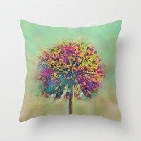 Dandelion Fantasy Throw Pillow