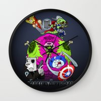 Floating BunnyHead + Ave… Wall Clock