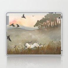 Little White Rabbit and the Blackbirds Laptop & iPad Skin