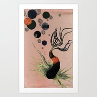 Koi Bubbles Art Print