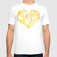 Shine Mens Fitted Tee White SMALL