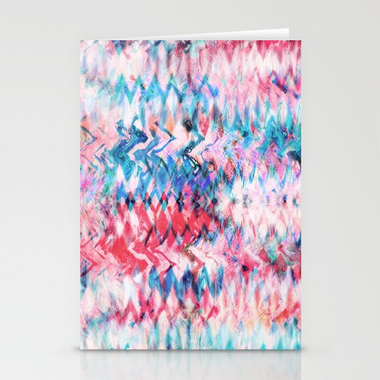 Tie Dye Soda Stationery Card