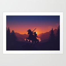 Legend Of Zelda Link Art Print