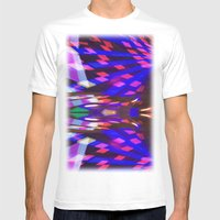 Night Light 102 Mens Fitted Tee White SMALL