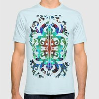 Dreaming In Lucidity Mens Fitted Tee Light Blue SMALL