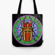 Tote Bag featuring Beetle Mandala by SwanniePhotoArt