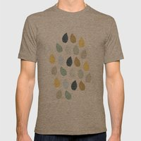 Rain Drops Pattern Mens Fitted Tee Tri-Coffee SMALL