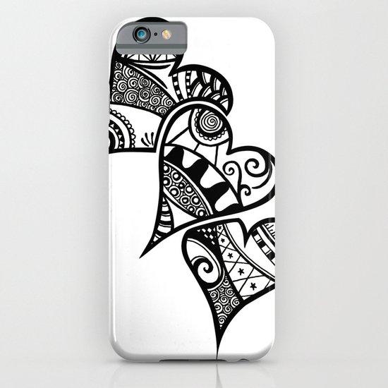 Three Hearts iPhone & iPod Case