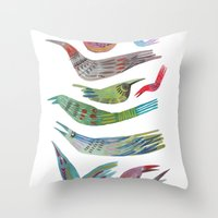 oiseaux Throw Pillow