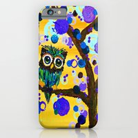 iPhone & iPod Case featuring :: Sunshine Gemmy Owl :: by :: GaleStorm Artworks ::