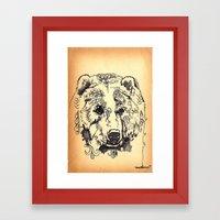 Bear Tears Framed Art Print