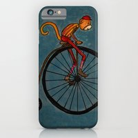 iPhone & iPod Case featuring Penny Farthing Pete by AKABETSY