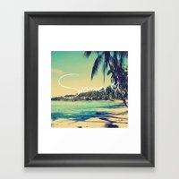 Summer Love Vintage Beach Framed Art Print