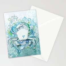 Crab tangling Stationery Cards