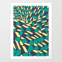 House Pattern Art Print