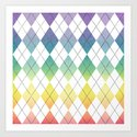 Argyle Rainbow Art Print