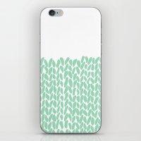 Half Knit Mint iPhone & iPod Skin