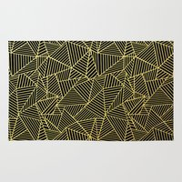 Ab 2 R Black and Gold Rug