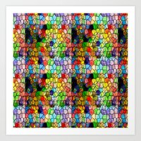 Stained Glass Abstract D… Art Print