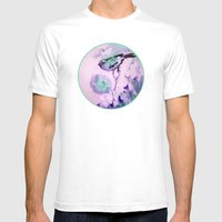 Finch Bird Mens Fitted Tee White SMALL