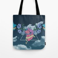 Heart In The Sky Tote Bag