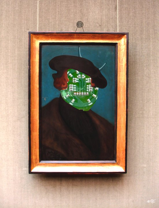 The Painting Collection Circuit Collage Art Print