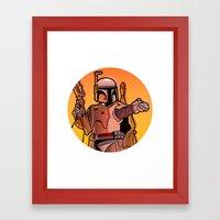 Boba Fire Framed Art Print