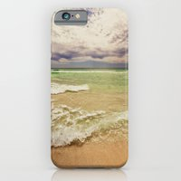 iPhone & iPod Case featuring green sea by Bonnie Martin