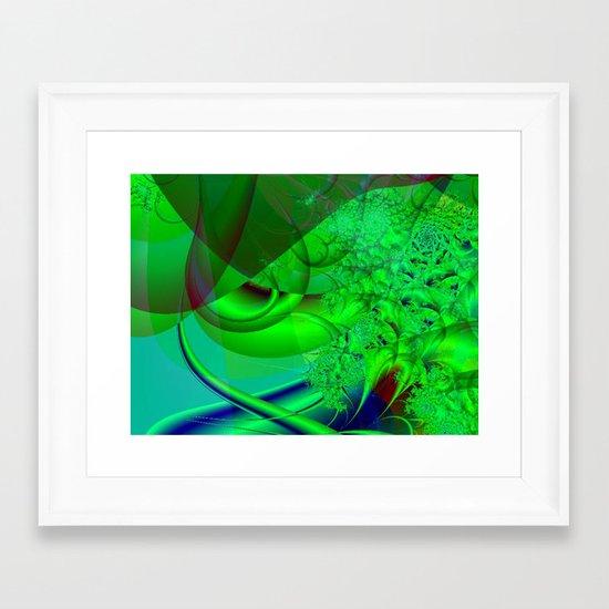 Abstract Green Algae Framed Art Print