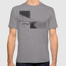 Sketch. (Nile #2) Mens Fitted Tee Athletic Grey SMALL