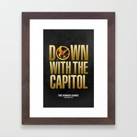 Hunger Games - Down With the Capitol Framed Art Print