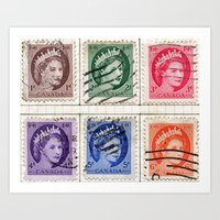 Stamp Art Print