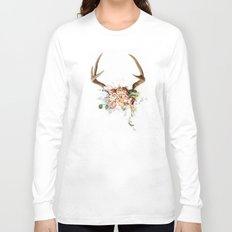 Floral Antlers V Long Sleeve T-shirt