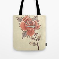 Rose on a Stem Tote Bag