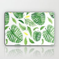 Laptop & iPad Skin featuring Palm Leaf Pattern by Lina Littlefield