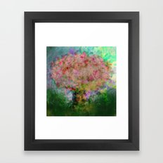A colorful tree Framed Art Print