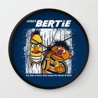 Here's Bertie Wall Clock