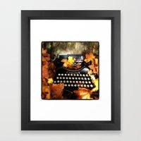 Typewriter in Autumn Framed Art Print