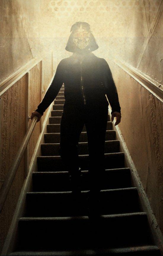 Stairway to the dark side _ vader descending  Art Print