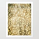 Din pattern Art Print
