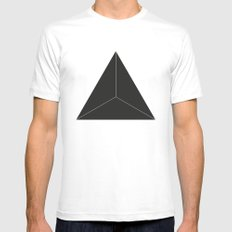 Triangle Mens Fitted Tee White SMALL
