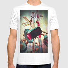 Crossings White SMALL Mens Fitted Tee