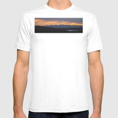 Colorado Vista Sunset Panorama White SMALL Mens Fitted Tee