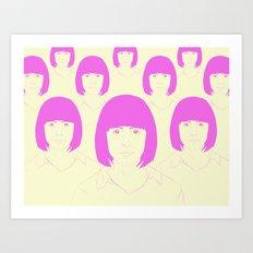 Multitud Art Print
