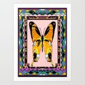 Southwest Style Swallowtail Butterfly Patterned Abstract Art Print
