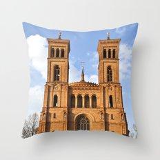 Sant Thomas Church in Berlin Throw Pillow