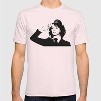 La Poliziotta Mens Fitted Tee Light Pink SMALL