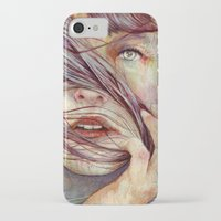 portrait iPhone & iPod Cases featuring Opal by Michael Shapcott