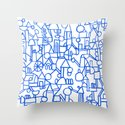 Blue space Throw Pillow