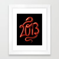 2013 - Year of the Snake Framed Art Print